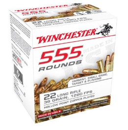 4 - Winchester 555 36GR .22LR Ammo