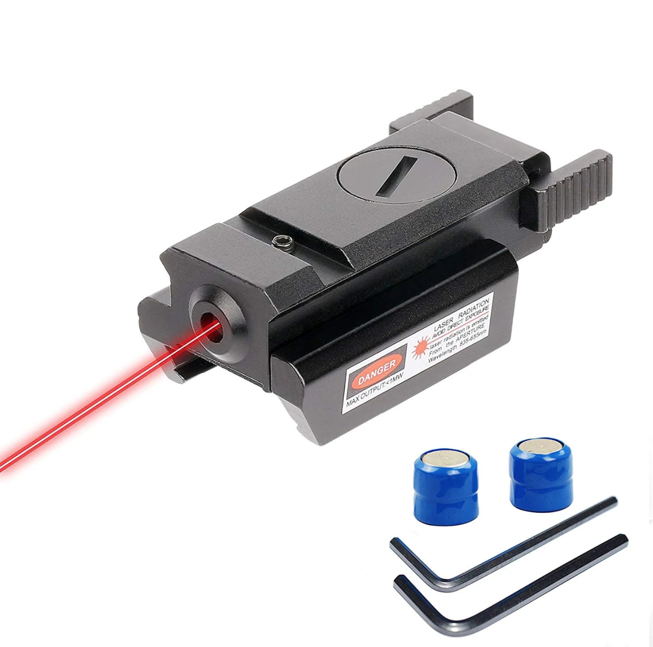 CVLIFE Red Laser Sight, Picatinny 20mm Weaver Rail Mount