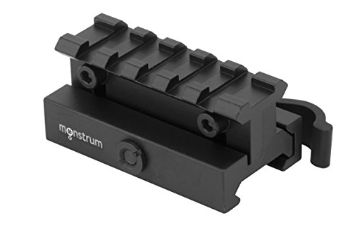 Monstrum Lockdown Series Adjustable Height Picatinny Riser Mount With Quick Release