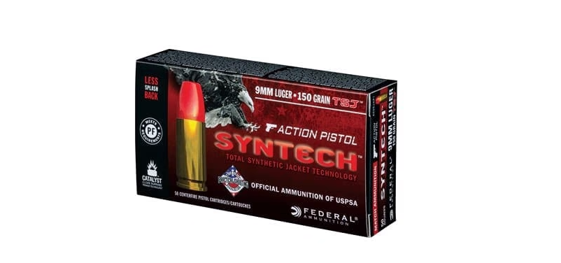 American Eagle - Syntech 9mm Luger 150gr Total Synthetic Jacket Action Pistol Ammo
