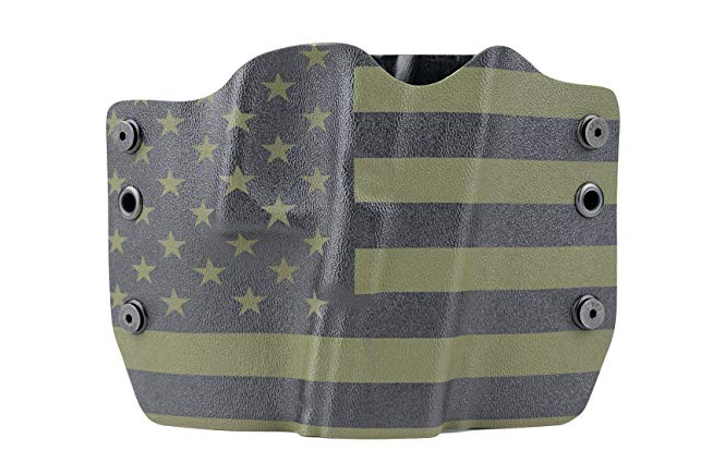 Outlaw Holsters - Green & Black U.S.A. Flag Kydex OWB Holster
