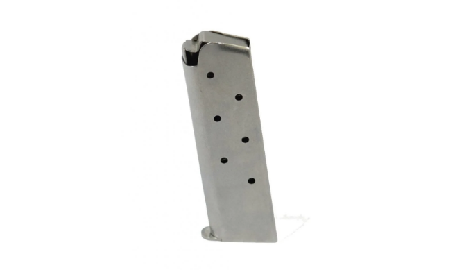 Tumbled Stainless Steel 1911 Mag .45 Acp