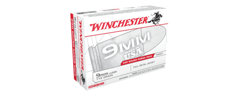 Winchester - USA White Box Ammo 9mm Luger 115gr FMJ