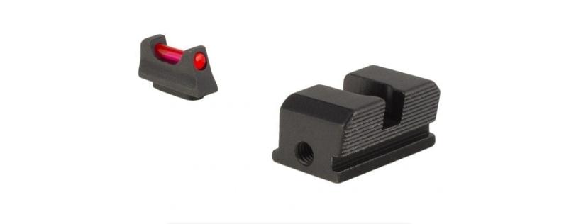 Trijicon Fiber Optic Pistol Front Rear Sight Set
